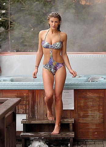 Amy Willerton sexy in bikini in Switzerland