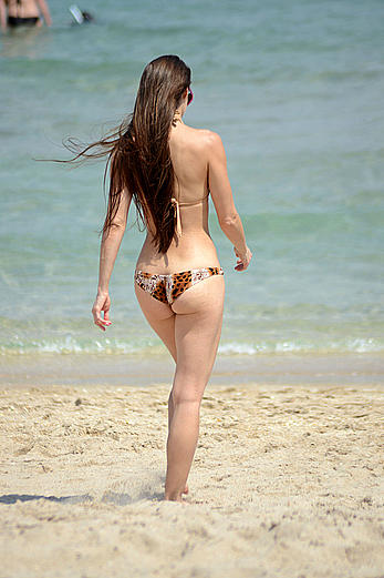 Anais Zanotti wearing a bikini in Miami
