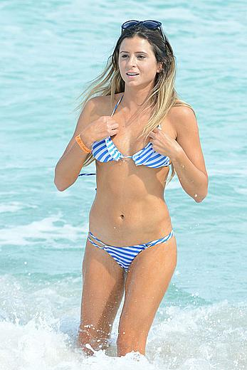 Anastasia Ashley wearing a bikini in Miami Beach