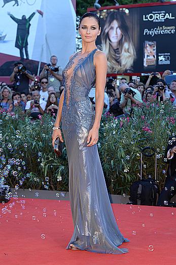 Anna Safroncik see through ti nips at 70th Venice International Film Festival