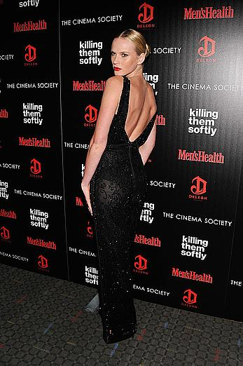Anne Vyalitsyna slight see throuh at Killing Them Softly premiere