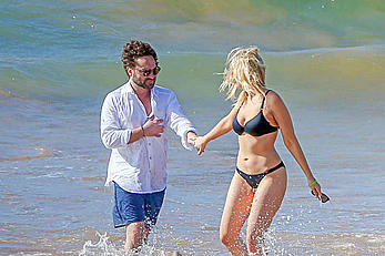 Ariella Nicole in bikini on the beach in Maui