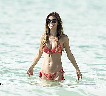 Busty Audrina Patridge wearing a bikini in Miami