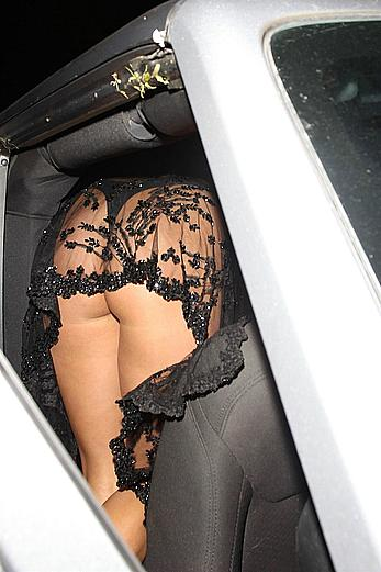 Ava Capra flashing her ass in see through dress at the Dream Hotel in Hollywood
