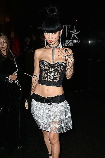 Bai Ling sexy posing at W Magazine Shooting Stars Exhibit In Los Angeles