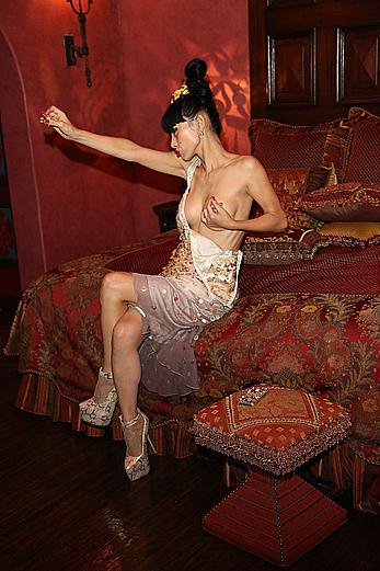 Bai Ling topless as always at Sue Wong's New Year's Eve party