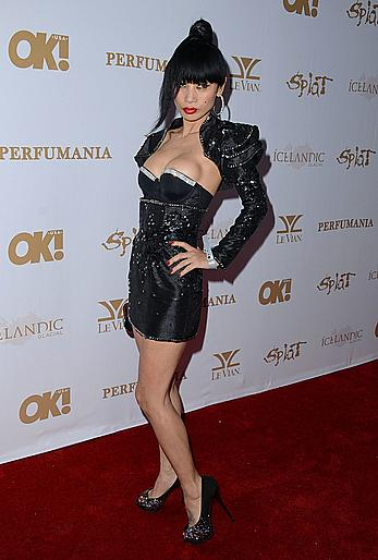 Bai Ling nip slip at OK!Magazine's Pre-Grammy Event in Hollywood