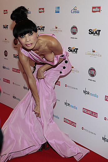 Bai Ling boob out paparazzi shots