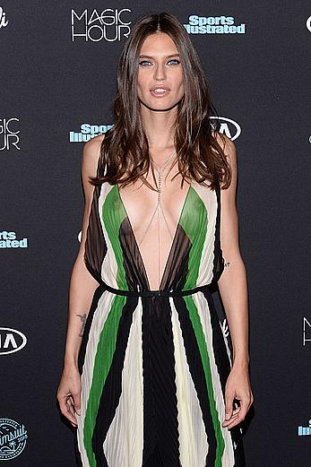 Bianca Balti boob slip at 2018 Sports Illustrated swimsuit issue launch