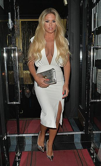 Bianca Gascoigne seen leaving the Gaslight club in Mayfair