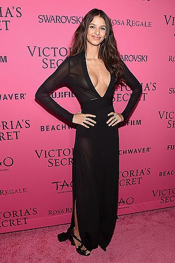 Bruna Lirio sexy cleavage at 2015 VS fashion after party at TAO Downtown