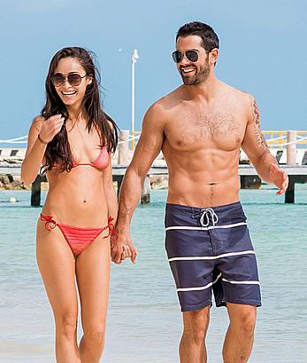 Cara Santana looking sexy in red bikini