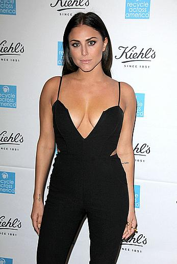 Cassie Scerbo sexy cleavage at Kiehl's 2015 Earth Day Project in Santa Monica