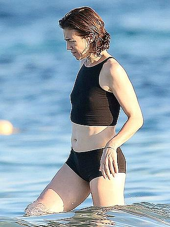 Charlotte Gainsbourg hard nipples in a bikini in Saint Tropez