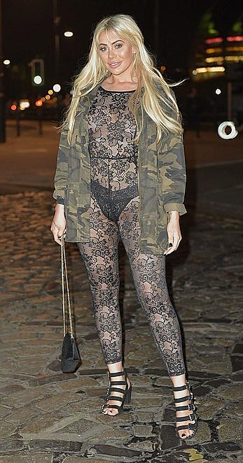 Chloe Ferry in see through dress