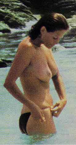 Italian Claudia Cardinale sunbathung naked