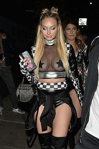 Corinne Olympios see through paparazzi photos