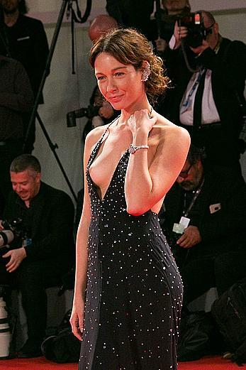 Cristiana Capotondi nipple slip at 74th Venice Film Festival