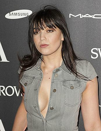 Daisy Lowe sexy cleavage Alexander McQueen Savage Beauty VIP Private Viewing