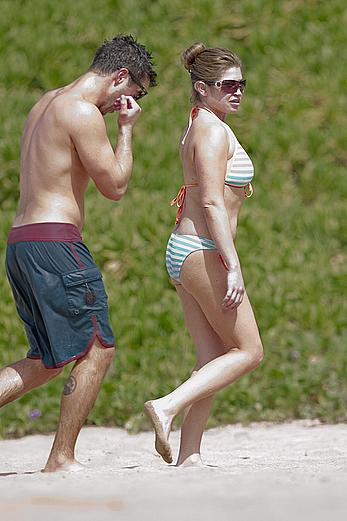 Danielle Fishel in a bikini at a Beach in Hawaii