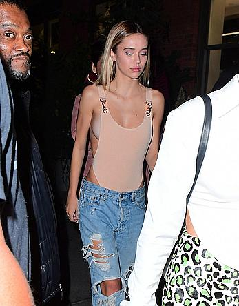 Delilah Hamlin sideboob at Catch NYC's 6th anniversary party
