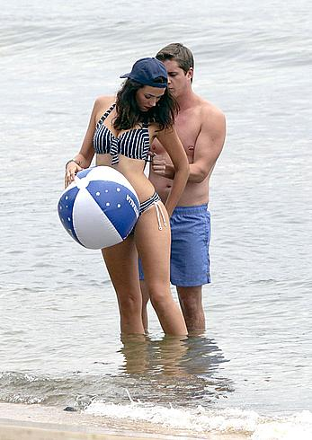 Demi Harman seen on the beach in Sydney
