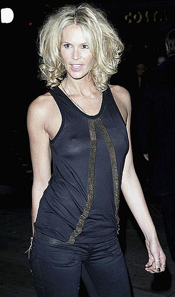 Elle Macpherson in see through top