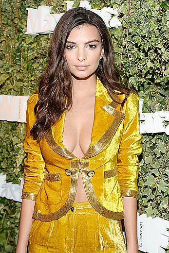 Emily Ratajkowski cleavage at The 2016 Women in Film Max Mara Face of the Future