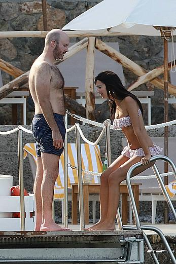 Emily Ratajkowski in a bikini in Tuscany