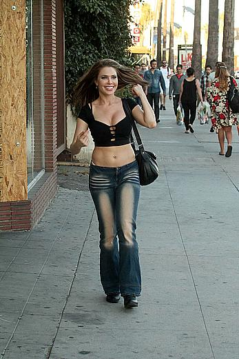 Erika Jordan out in XPOZ jeans shows her sexy ass