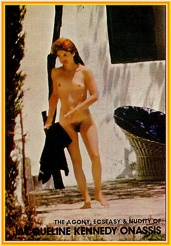 Jacqueline Kennedy Onassis fully nude paparazzi photo
