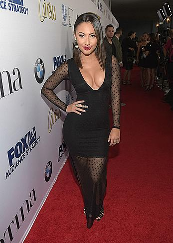 Francia Raisa downblouse at Latina Media Ventures Hosts Latina Hot List party