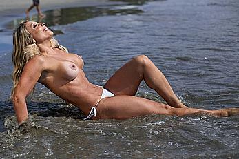 Gabriela Bayerlein naked on a beach during photoset