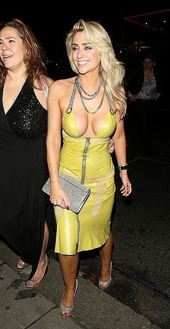 Gemma Merna shows deep cleavage Inside Soap Awards