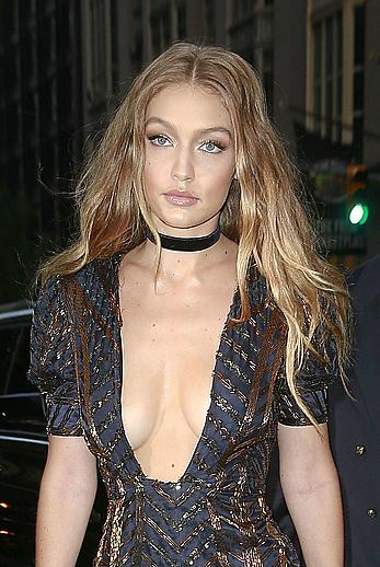 Gigi Hadid cleavage The Daily Front Row's 4th Annual Fashion Media Awards