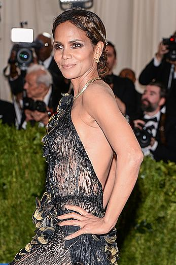 Halle Berry sexy at 2017 MET Gala in NY