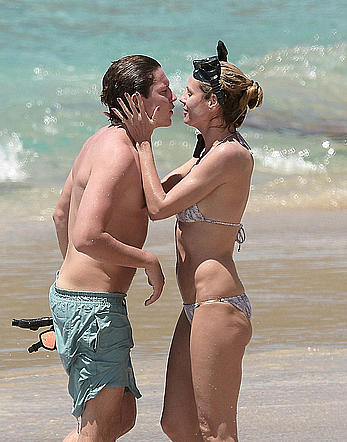 Heidi Klum in bikini in St.Barts