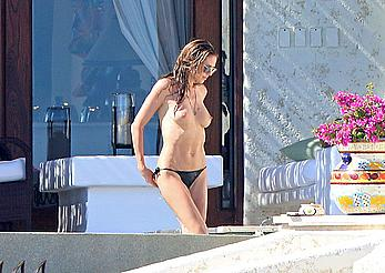 Heidi Klum topless in Cabo San Lucas with her new boyfriend
