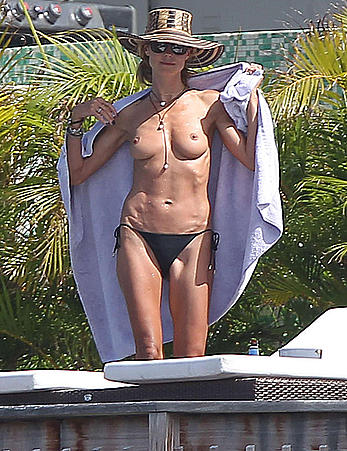 Heidi Klum topless again in St. Barts
