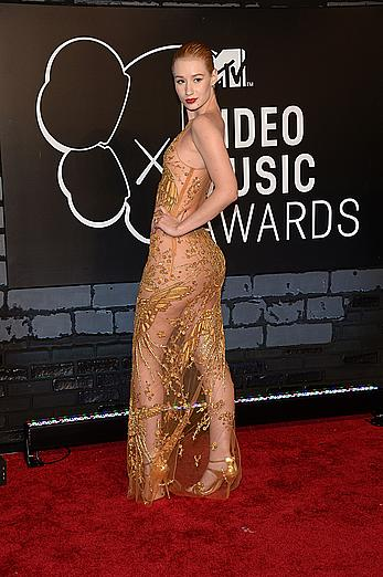 Iggy Azalea in semi-transparent tight dress at 2013 MTV Video Music Awards