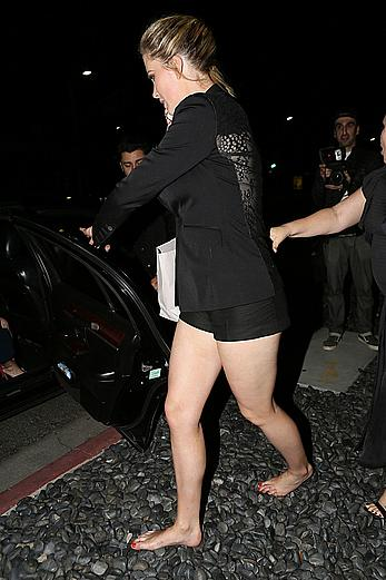 Drunk Ireland Baldwin tit slip whikle leaving the Power Stylists Dinner in West Hollywood