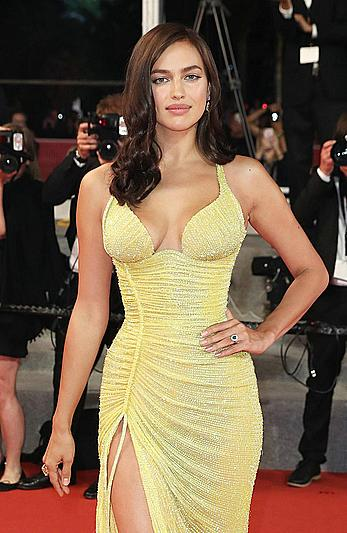 Irina Shayk legs and cleavage at Hikari premiere at 70th Cannes Film festival