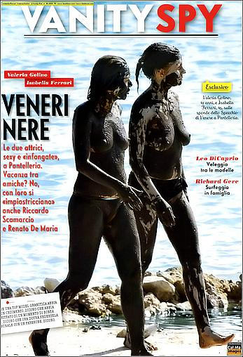 Isabella Ferrari and Valeria Golino caught topless on a beach