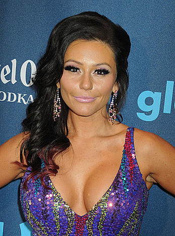 Jenni Farley nice cleavage at 24th Annual Glaad Media Awards