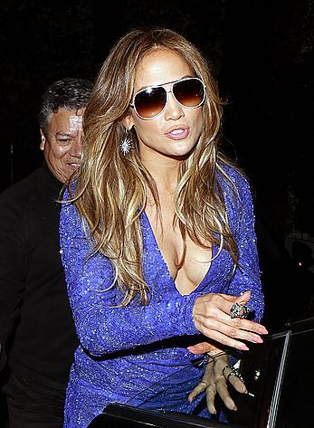 Jennifer Lopez leaving Cecconis in West Hollywood
