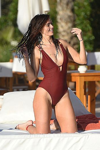 Jennifer Metcalfe swimsuit poolside in Marrakesh