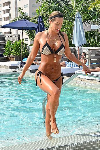 Jennifer Nicole Lee wearing a bikini in Miami