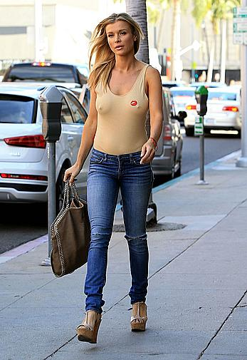 Joanna Krupa hard nipples under tight top