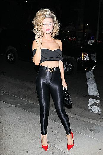 Joanna Krupa sexy at Casamigos Halloween party