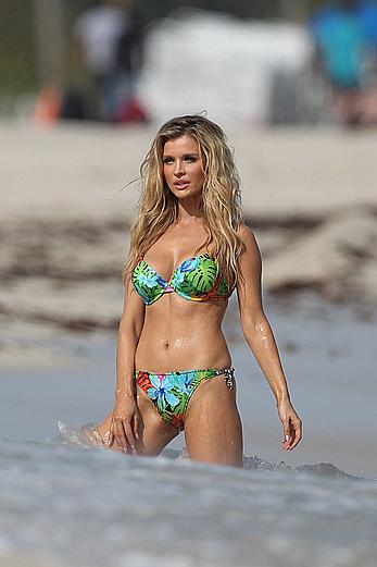 Joanna Krupa sexy in bikini on a beach